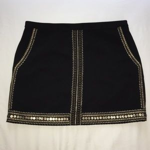 Madewell Embroidered Sequin Mini Skirt - Size XXS